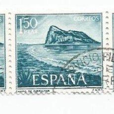 Sellos: LOTE DE 62 SELLOS USADOS DE 1969- SERIE PRO TRABAJADORES ESPAÑOLES DE GIBRALTAR-EDIFIL 1934 Y 1935. Lote 194878227