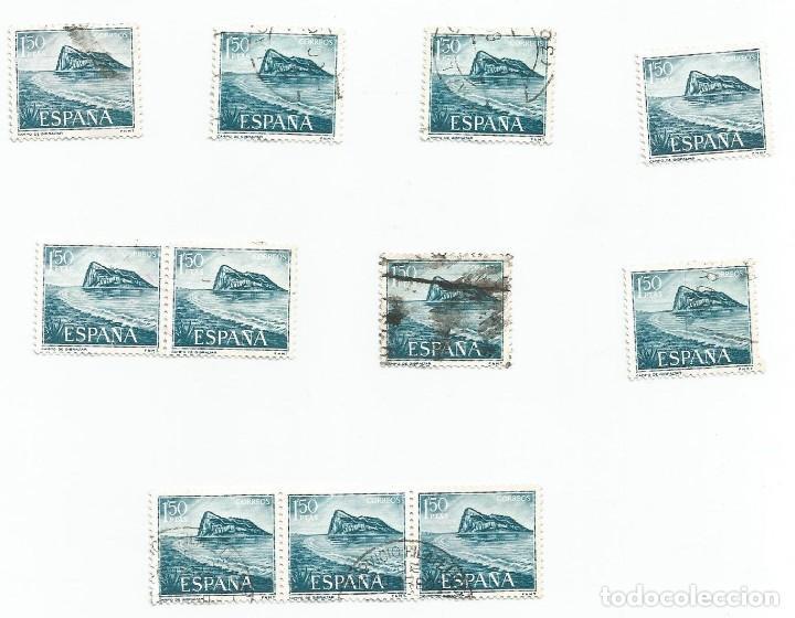 Sellos: LOTE DE 62 SELLOS USADOS DE 1969- SERIE PRO TRABAJADORES ESPAÑOLES DE GIBRALTAR-EDIFIL 1934 Y 1935 - Foto 9 - 194878227