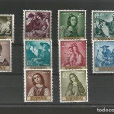 Sellos: ESPAÑA.,FRANCISCO DE ZURBARÁN.EIFIL Nº 1418/1427** SERIE COMPLETA.. Lote 194947333