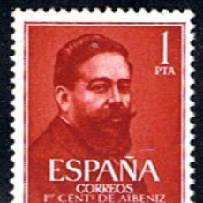 Sellos: ESPAÑA // EDIFIL 1321 // 1960 ... ISAAC ALBENIZ. ... NUEVO. Lote 194963325