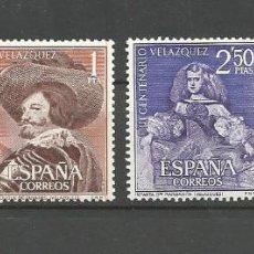 Sellos: ESPAÑA.CENTENARIO DE LA MUERTE DE VELÁZQUEZ EDIFIL Nº 1340/1343 ** SERIE COMPLETA,VALOR 15 €. Lote 194972006