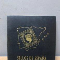Sellos: ÁLBUM DE SELLOS DE ESPAÑA, EMISIONES POST CENTENARIO DEL AÑO 50 AL 75. Lote 195259761