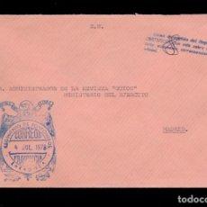 Sellos: *** CARTA ZARAGOZA-MADRID 1978. RARA FRANQUICIA REGIMIENTO DE PONTONEROS (ZARAGOZA) ***. Lote 195322785