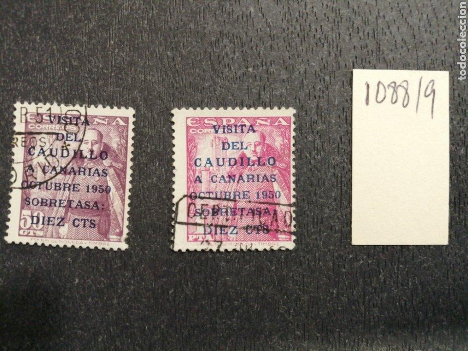 1088/89 USADOS. AÑO 1951 VISITA CAUDILLO A CANARIAS (Sellos - España - II Centenario De 1.950 a 1.975 - Usados)