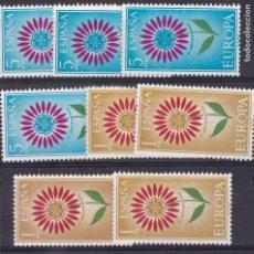 Sellos: LL16-EUROPA 1964 EDIFIL 1613/14 X 4 SERIES , .VARIEDAD ** SIN FIJASELLOS.. Lote 195420023