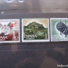 Sellos: +1963, CONMEMORACIONES CENTENARIAS DE SAN SEBASTIAN, EDIFIL 1516/18. Lote 195465568