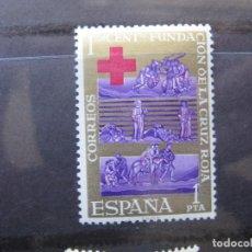 Sellos: +1963, CENTENARIO DE CRUZ ROJA INTERNACIONAL,EDIFIL 1534. Lote 195465985