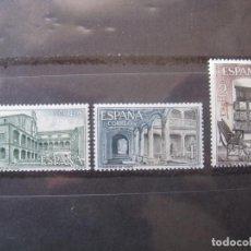 Sellos: +1965, MONASTERIO DE YUSTE, EDIFIL 1686/88. Lote 195501886