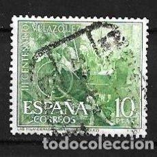 Sellos: ESPAÑA,1961,VÉLAZQUEZ,LAS HILANDERAS,EDIFIL 1343,USADO. Lote 195532596