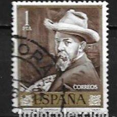 Sellos: ESPAÑA,1964,SOROLLA,EDIFIL 1570,USADO. Lote 195533068