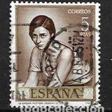 Sellos: ESPAÑA,1965,ROMERO DE TORRES,EDIFIL 1665,USADO. Lote 195533643