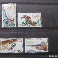 Sellos: +1968, JUEGOS OLIMPICOS DE MEXICO, EDIFIL 1885/88. Lote 195539595