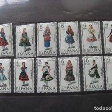 Sellos: +1969, TRAJES TIPICOS ESPAÑOLES, GRUPO III, IFNI-OVIEDO, EDIFIL 1898/909. Lote 195540207