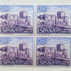 Francobolli: SELLOS ESPAÑA 1969. EDIFIL 1929. NUEVOS. BLOQUE DE CUATRO. CASTILLO VELEZ BLANCO. ALMERIA.. Lote 196339240