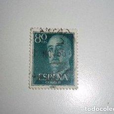 Sellos: ESPAÑA SELLO DE FRANCO DE 80 CÉNTIMOS. Lote 197483958