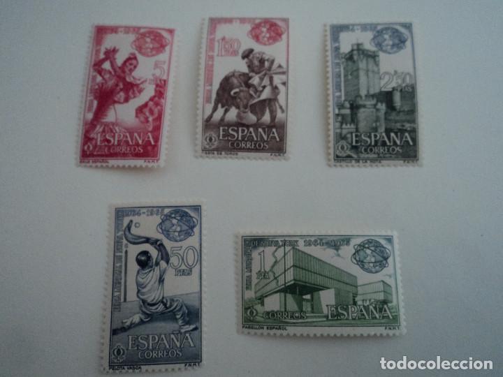 ESPAÑA 1964 FERIA MUNDIAL DE NUEVA YORK EDIFIL NUM. 1590/1594 ** SERIE COMPLETA NUEVA (Sellos - España - II Centenario De 1.950 a 1.975 - Nuevos)