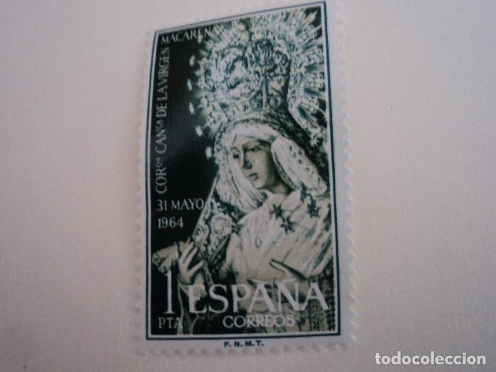 ESPAÑA. CORONACION DE LA VIRGEN DE LA MACARENA (SEVILLA). 1964. (Sellos - España - II Centenario De 1.950 a 1.975 - Nuevos)