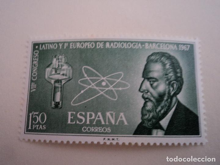 1967 VII CONGRESO LATINO Y I EUROPEO DE RADIOLOGÍA.BARCELONA. (Sellos - España - II Centenario De 1.950 a 1.975 - Nuevos)
