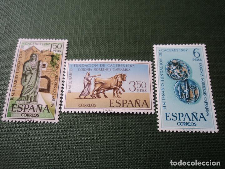 1967 BIMILENARIO FUNDACION DE CACERES. EDIFIL 1827/9 (Sellos - España - II Centenario De 1.950 a 1.975 - Nuevos)