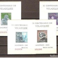 Sellos: SELLOS DE ESPAÑA AÑO 1961 CENTENARIO VELÁZQUEZ HB NUEVAS**. Lote 199144051