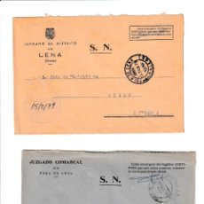 Sellos: POLA DE LENA. ASTURIAS SOBRE CON MARCA DE FRANQUICIA.. Lote 199287705