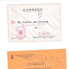 Sellos: NOREÑA. ASTURIAS SOBRE CON MARCA DE FRANQUICIA.. Lote 199287930