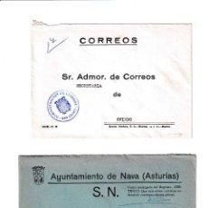 Sellos: NAVA. ASTURIAS SOBRE CON MARCA DE FRANQUICIA.. Lote 199288481