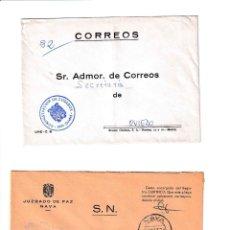 Sellos: NAVA. ASTURIAS SOBRE CON MARCA DE FRANQUICIA.. Lote 199288510
