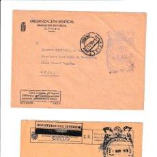 Sellos: AVILÉS. ASTURIAS SOBRE CON MARCA DE FRANQUICIA.. Lote 199290013