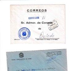 Sellos: AVILÉS. ASTURIAS SOBRE CON MARCA DE FRANQUICIA.. Lote 199290026
