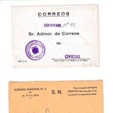 Sellos: AVILÉS. ASTURIAS SOBRE CON MARCA DE FRANQUICIA.. Lote 199290035