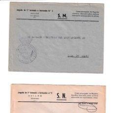 Sellos: AVILÉS. ASTURIAS SOBRE CON MARCA DE FRANQUICIA.. Lote 199290042