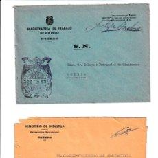 Sellos: AVILÉS. ASTURIAS SOBRE CON MARCA DE FRANQUICIA.. Lote 199290060