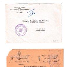 Sellos: AVILÉS. ASTURIAS SOBRE CON MARCA DE FRANQUICIA.. Lote 199290068