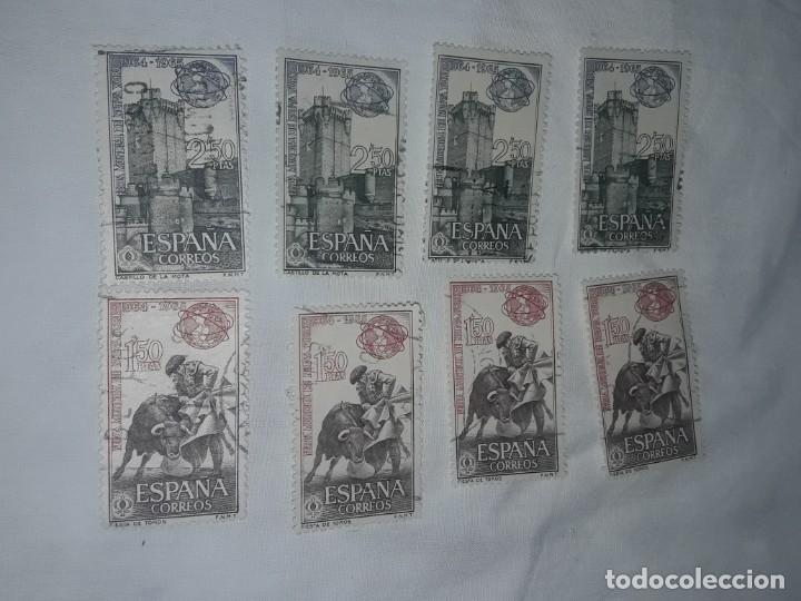 Sellos: 8 Sellos Feria Mundial de Nueva York 1964/1965 edifil 1591 y 1592 Fiesta de toros y Castillo la Mora - Foto 4 - 199335906