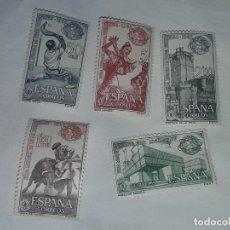 Sellos: SELLOS FERIA MUNDIAL DE NUEVA YORK AÑO 1964/1965 EDIFIL 1590/91/92/93/94. Lote 199336780