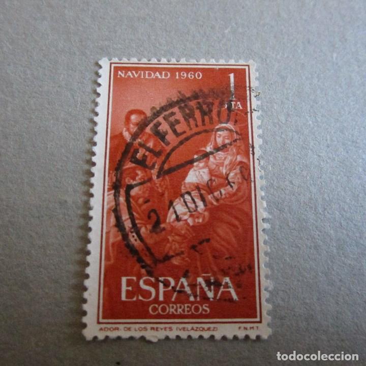 ESPAÑA 1960, EDIFIL Nº 1325, NAVIDAD. MATASELLADO (Sellos - España - II Centenario De 1.950 a 1.975 - Usados)