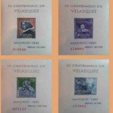 Sellos: ESPAÑA SPAIN 1961 EDIFIL 1444/1347 III CENTENARIO DE LA MUERTE DE VELÁZQUEZ (NUEVAS SIN CHARNELA). Lote 246424375