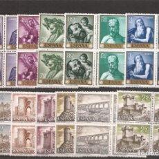 Sellos: SELLOS DE ESPAÑA AÑOS 1960 SELLOS NUEVOS** EN BLOQUE DE 4. Lote 200016752