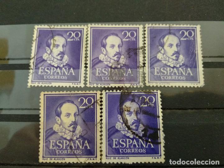 AÑO 1950-53 LITERATOS USADOS SE VENDE 5 SELLOS EDIFIL 1074 (Sellos - España - II Centenario De 1.950 a 1.975 - Usados)