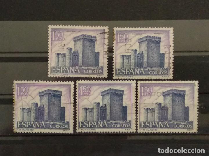 AÑO 1969 CASTILLOS DE ESPAÑA SE VENDEN 5 SELLOS EN USADOS EDIFIL 1928 (Sellos - España - II Centenario De 1.950 a 1.975 - Usados)