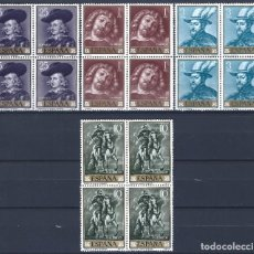 Sellos: EDIFIL 1434-1437 PEDRO PABLO RUBENS 1962 (SERIE COMPLETA BLOQUES DE 4). VALOR CATÁLOGO: 77 €. MNH **. Lote 201180350