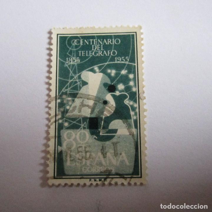 ESPAÑA 1955, EDIFIL Nº 1181, CENTENARIO DEL TELEGRAFO. MATASELLADO (Sellos - España - II Centenario De 1.950 a 1.975 - Usados)