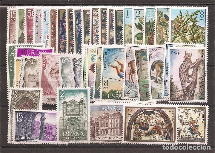 SELLOS DE ESPAÑA AÑO 1972 SELLOS NUEVOS** AÑO COMPLETO (Sellos - España - II Centenario De 1.950 a 1.975 - Nuevos)