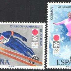 Selos: ESPAÑA,1972 EDIFIL Nº 2074 / 2075 /**/, XI JUEGOS OLÍMPICOS DE INVIERNO, SAPPORO. Lote 202612326