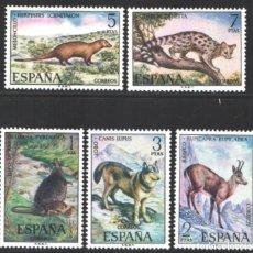 Selos: ESPAÑA,1972 EDIFIL Nº 2102 / 2106 /**/, FAUNA. Lote 202613290