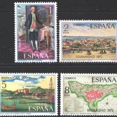 Selos: ESPAÑA,1972 EDIFIL Nº 2107 / 2110 /**/, HISPANIDAD. Lote 202613318