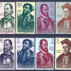 Sellos: EDIFIL 1454-1462 FORJADORES DE AMÉRICA 1962. (SERIE COMPLETA). VALOR CATÁLOGO: 21 €. MNH **. Lote 234027895