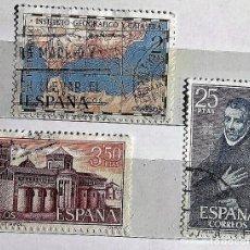Sellos: ESPAÑA 1970, 3 SELLOS USADOS DIFERENTES. Lote 202972545
