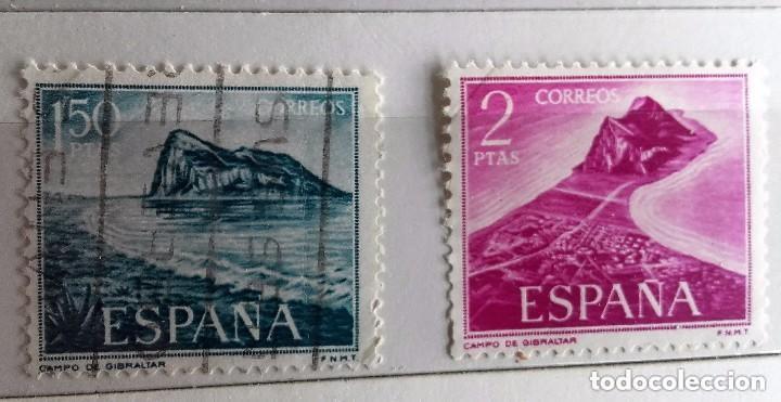 ESPAÑA 1969, 2 SELLOS SERIE COMPLETA PRO TRABAJADORES EN GIBRALTAR (Sellos - España - II Centenario De 1.950 a 1.975 - Usados)